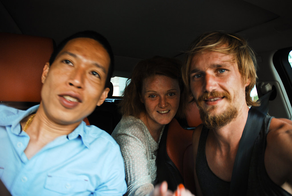 another very friendly guy, who took us a long way with him & drove us to a friend in Phuket